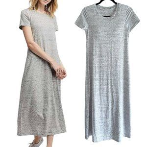 uniqlo Light Heather Gray T Shirt Midi Dress S